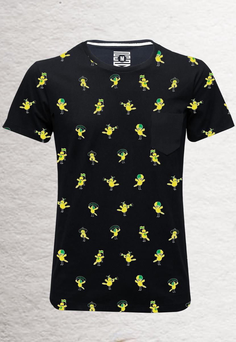 Camiseta Canarinho BR (Masculino Adulto)