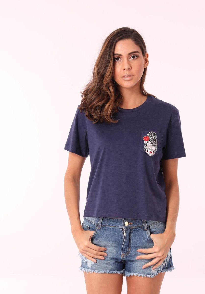 Camiseta Caveira Girl