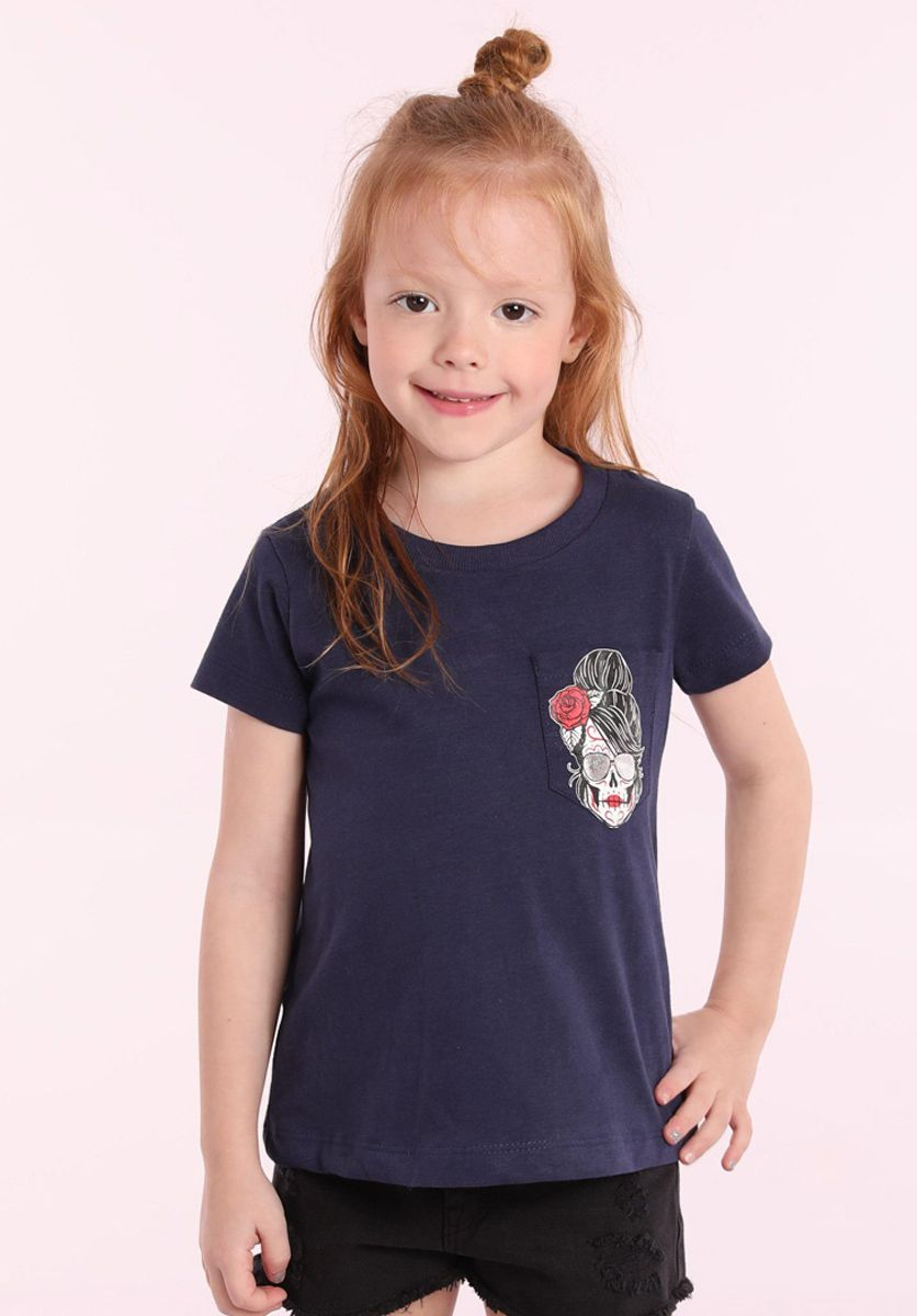 Camiseta Caveira Girl