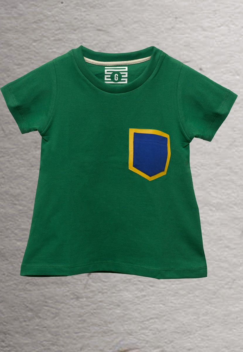 Camiseta Couro Brasil (Infantil Feminino)