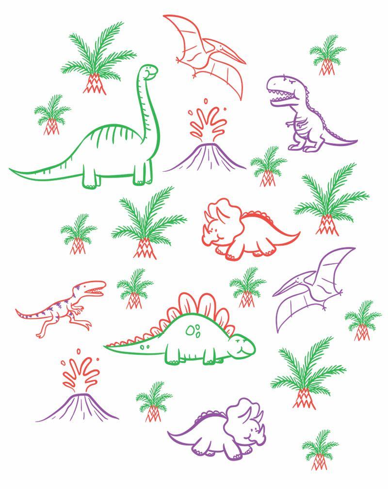 Camiseta Dinossauros Infantil Masculino