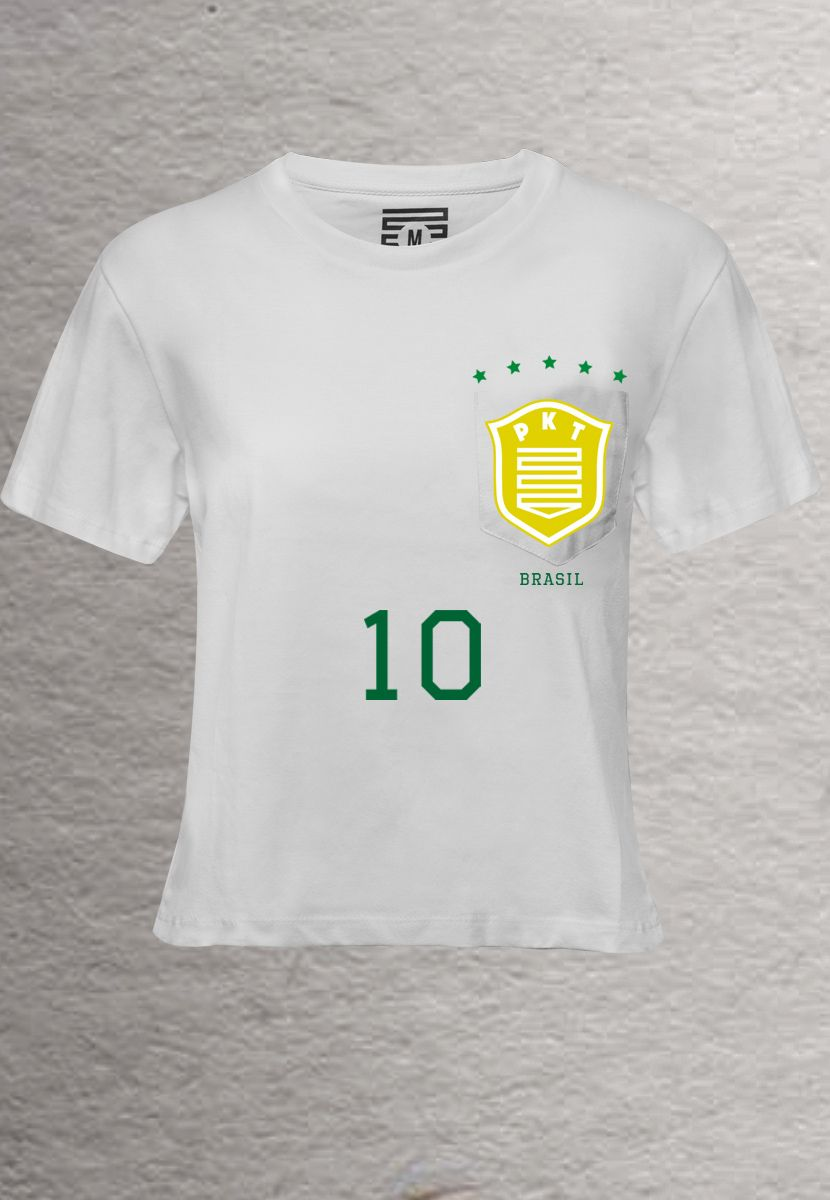 Camiseta Escudo PKT BR (Feminino Adulto)
