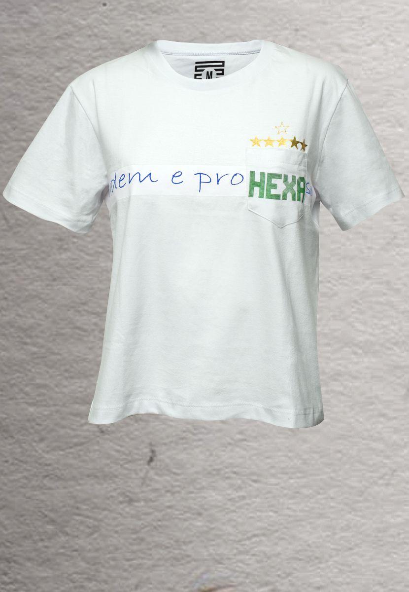 Camiseta Ordem e Hexa BR (Feminino Adulto)