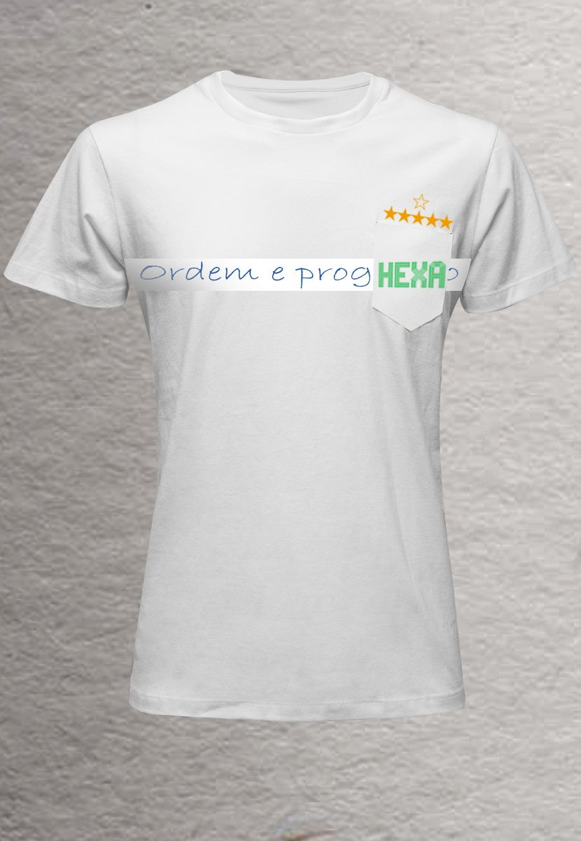 Camiseta Ordem e Hexa BR (Masculino Adulto)