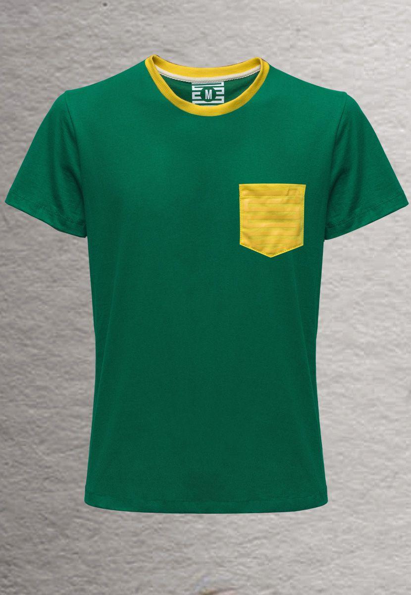 Camiseta Pin Brasil (Masculino Adulto)