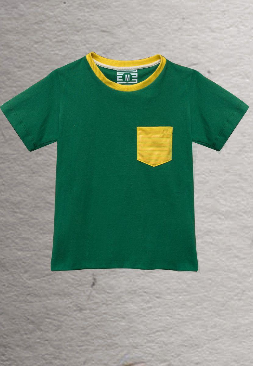 Camiseta Pin Brasil (Masculino Infantil)