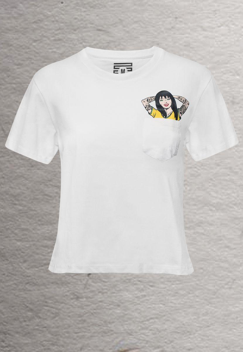 Camiseta Pin Up BR (Feminino Adulto)