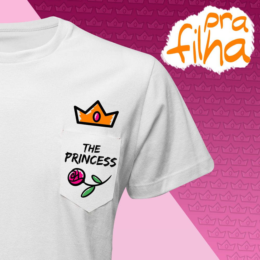 Camiseta THE PRINCESS (Infantil Feminino)