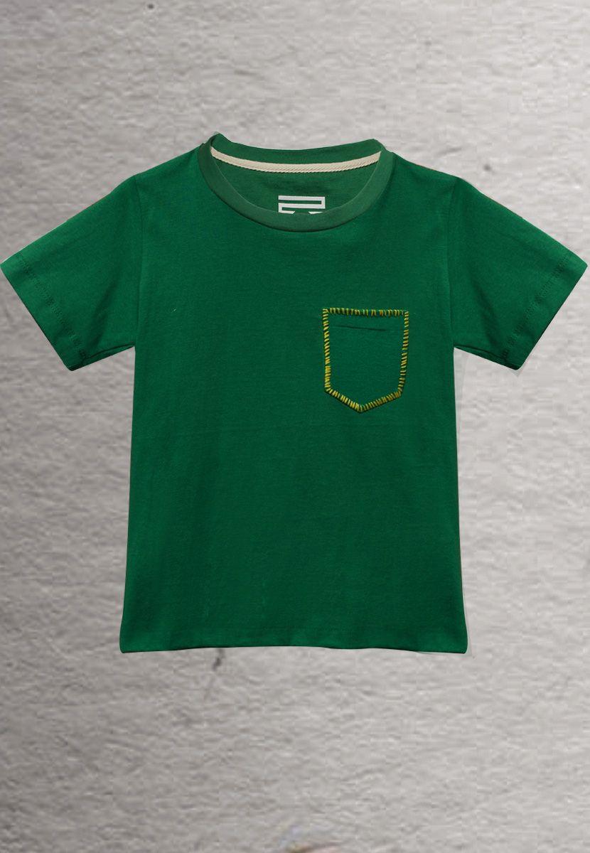 Camiseta Zig Zag Borda Brasil (Infantil Masculino)