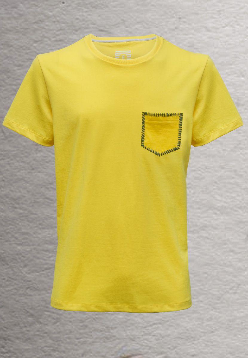 Camiseta Zig Zag Borda Brasil (Masculino Adulto)