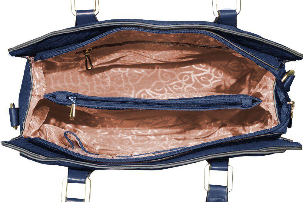Bolsa de Verniz Estruturada Azul Marinho