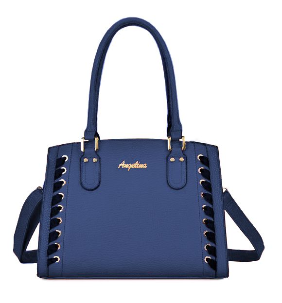Bolsa Feminina Azul Estruturada