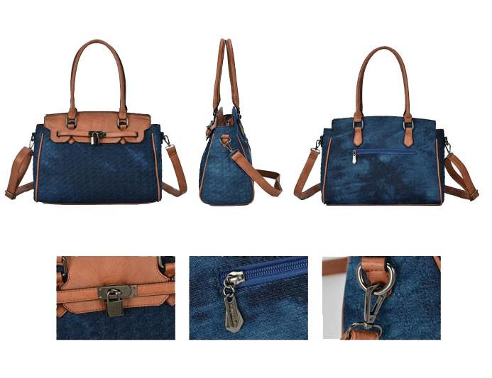 Bolsa Feminina Jeans Ombro- AG1440