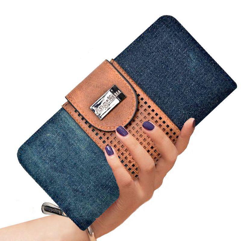 Carteira Feminina Jeans