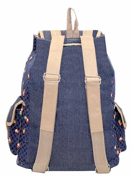 Mochilas Femininas Jeans - Corujinha Azul