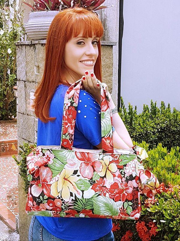 Bolsa Laço - Floral