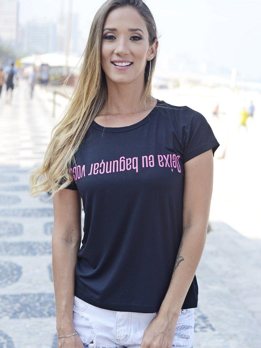 Camiseta Bagunçar Você - Preta
