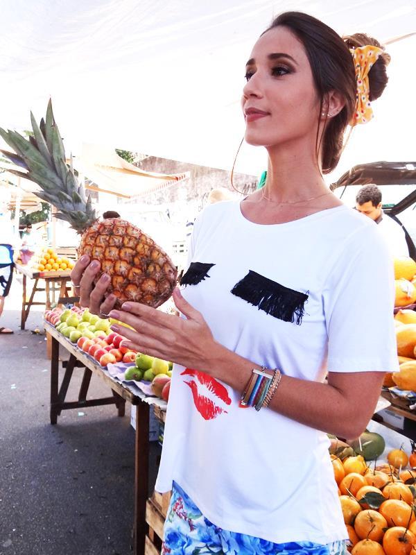 Camiseta Boneca - Branca
