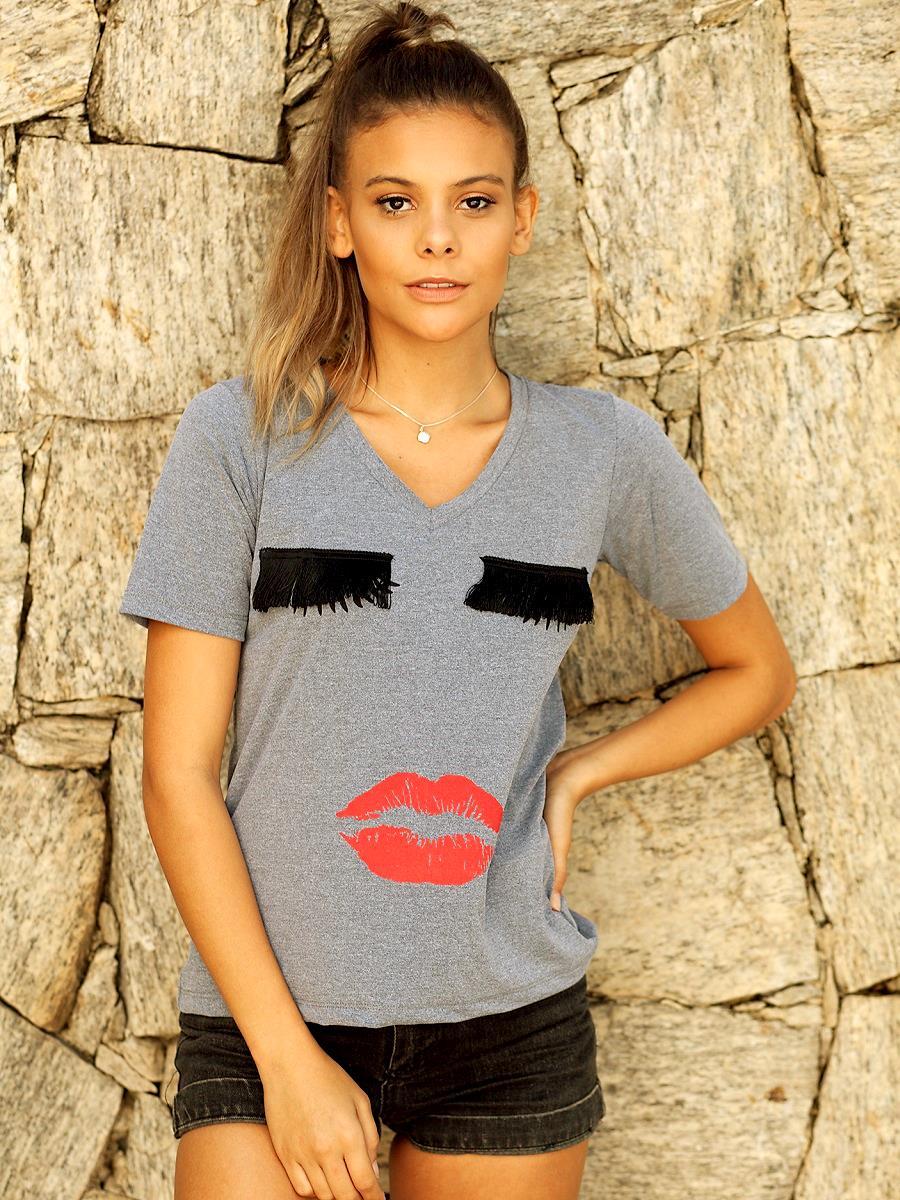 Camiseta Boneca - Mescla