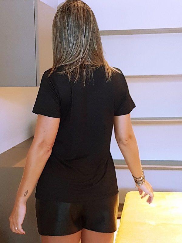 Camiseta Cactos - Preta