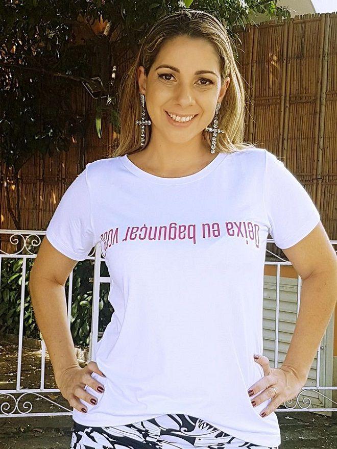 Camiseta Deixa Eu Bagunçar Você - Branca