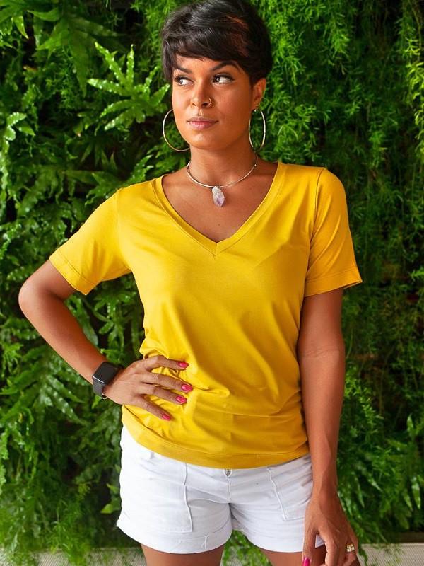 Camiseta Fashionista - Girassol