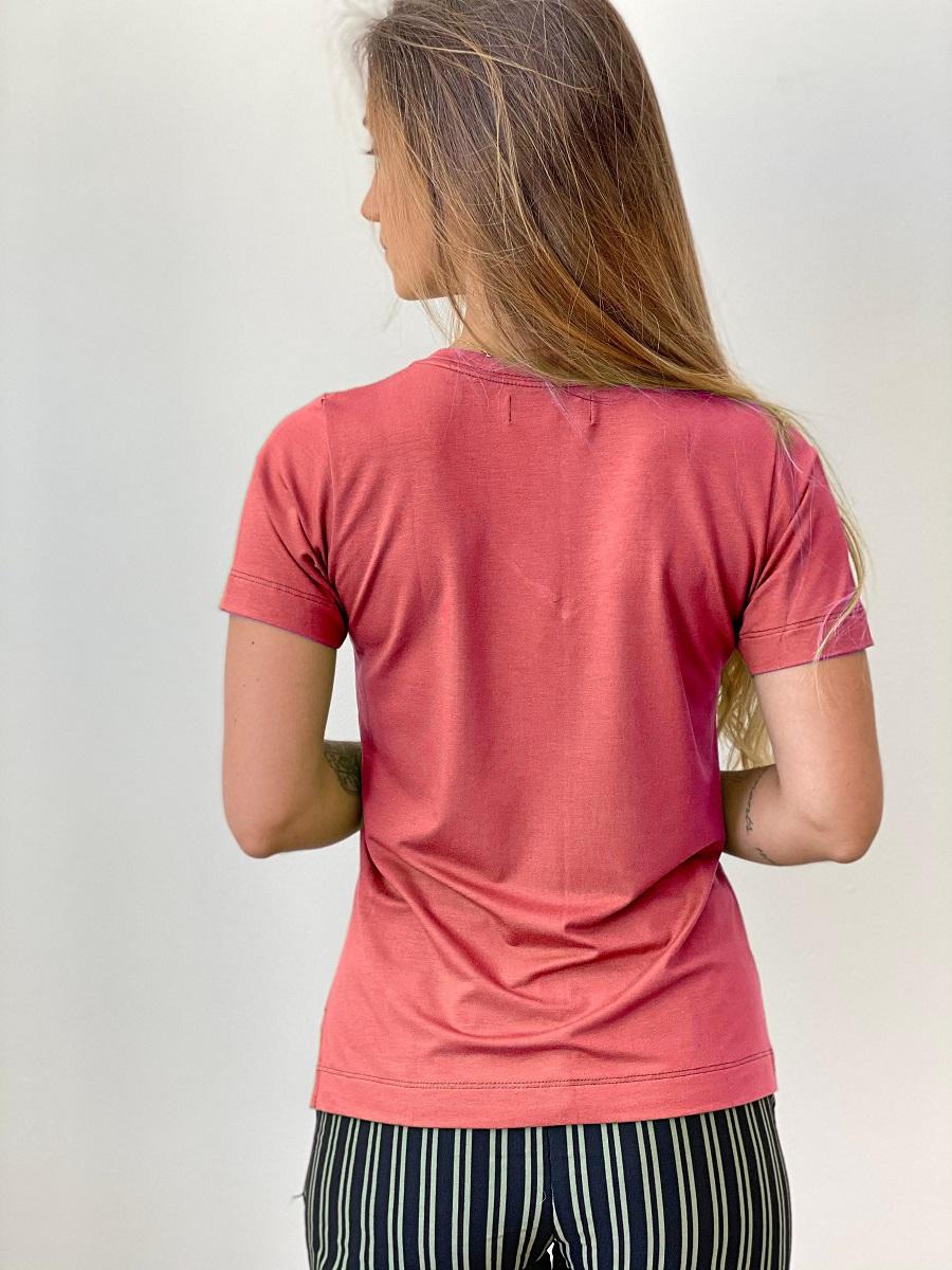 Camiseta Fashionista Sophistiquee - Goiaba