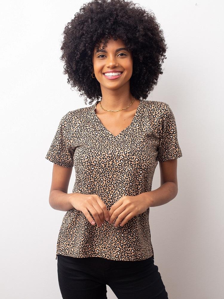Camiseta Fashionista - Animal Print