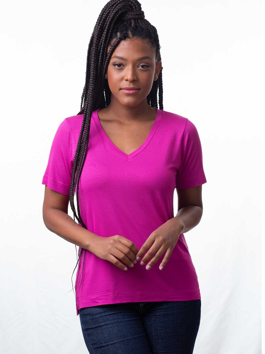 Camiseta Fashionista - Fúcsia