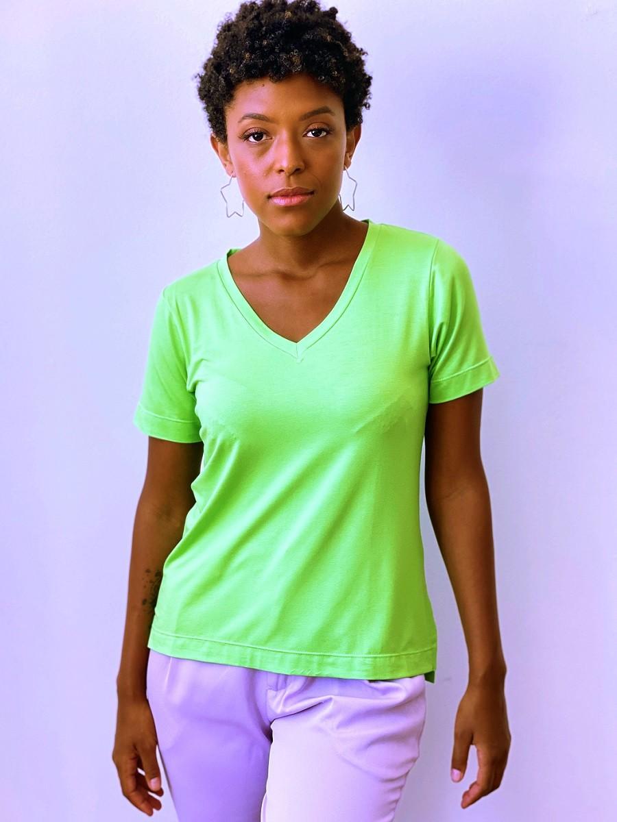 Camiseta Fashionista - Maçã Verde