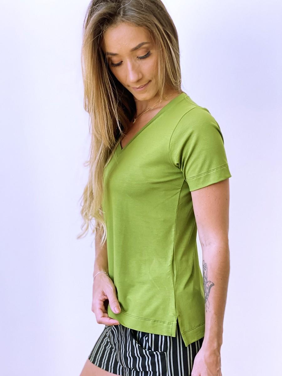 Camiseta Fashionista - Oliva