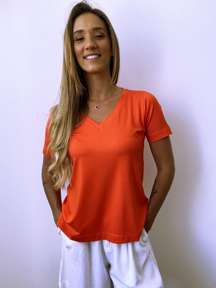 Camiseta Fashionista - Pitanga