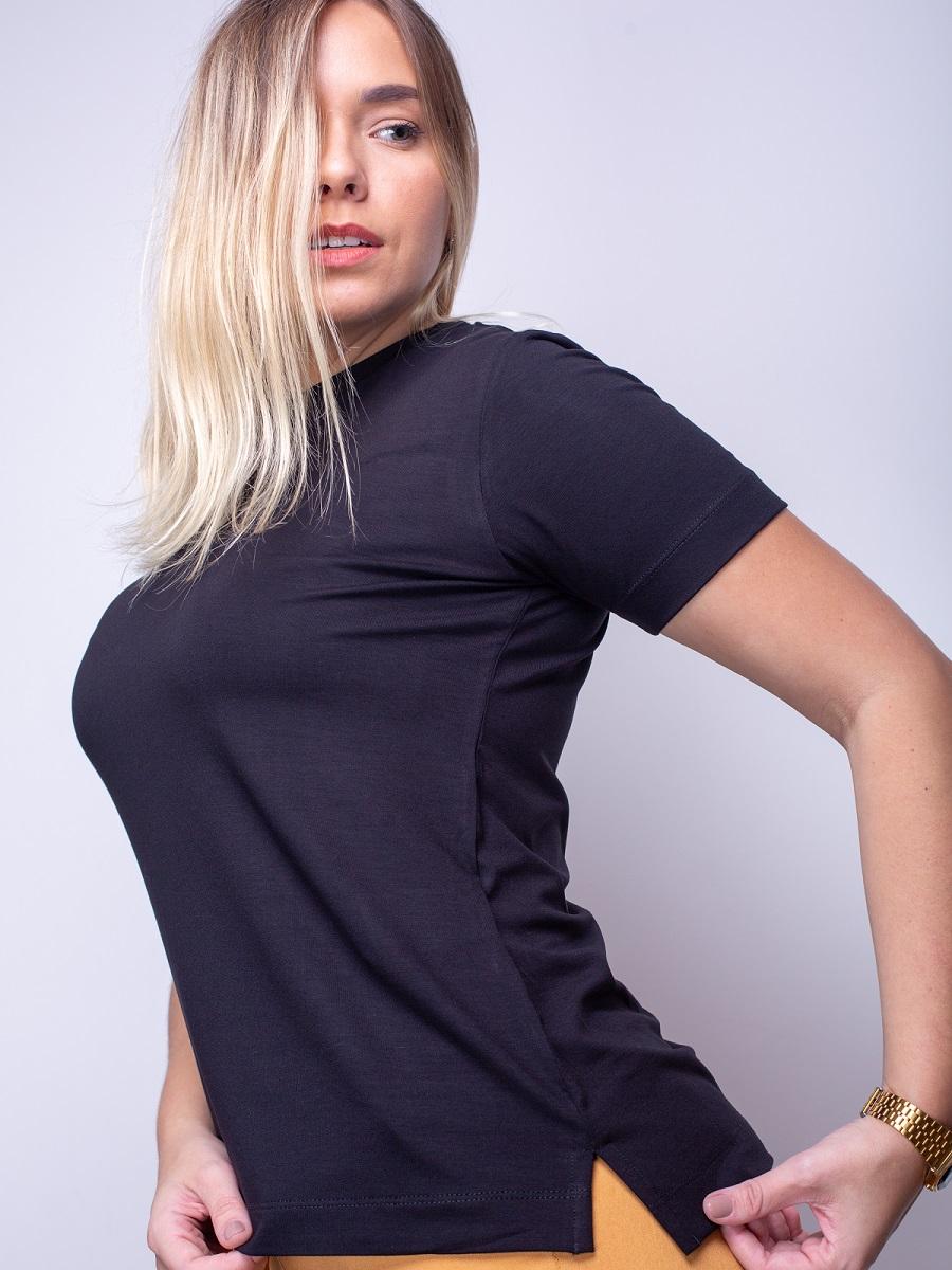 Camiseta Fashionista Round - Preta