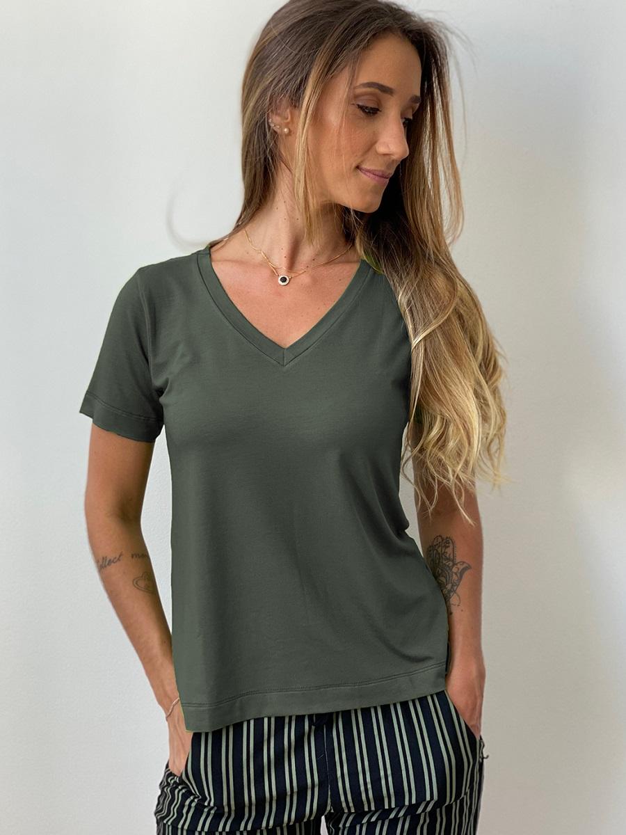 Camiseta Fashionista - Sálvia