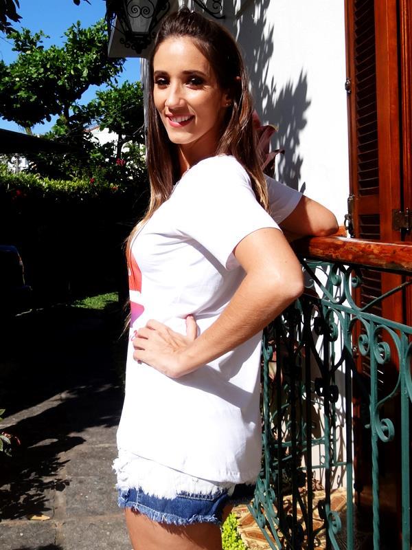 Camiseta Fé - Branca