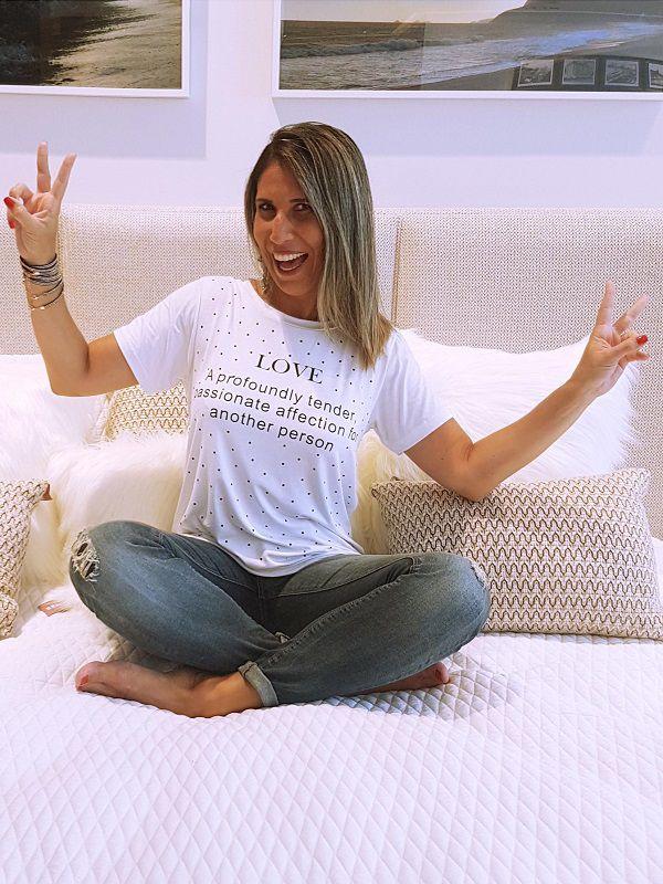 Camiseta Love - Branca