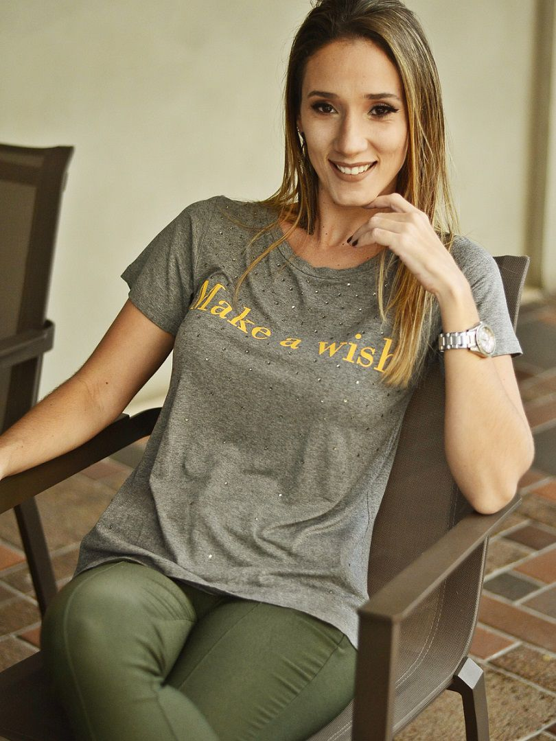 Camiseta Juju Make a Wish - Mescla