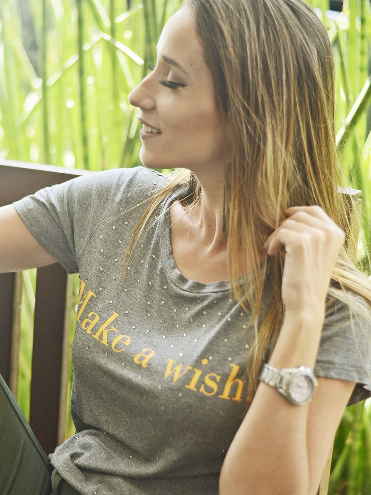 Camiseta Make a Wish - Mescla