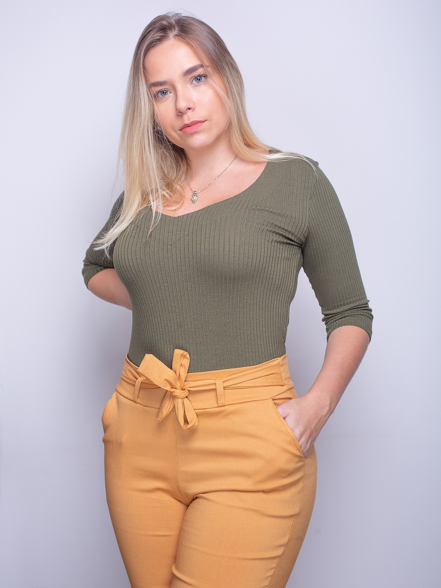Camiseta Soft - Verde Oliva