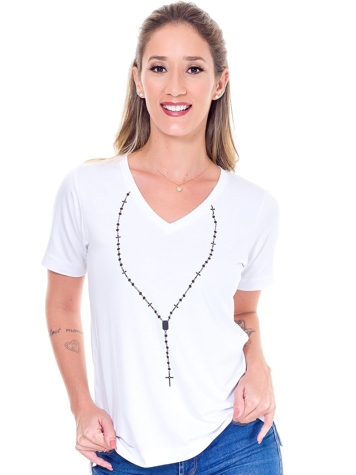 Camiseta Terço - Branca