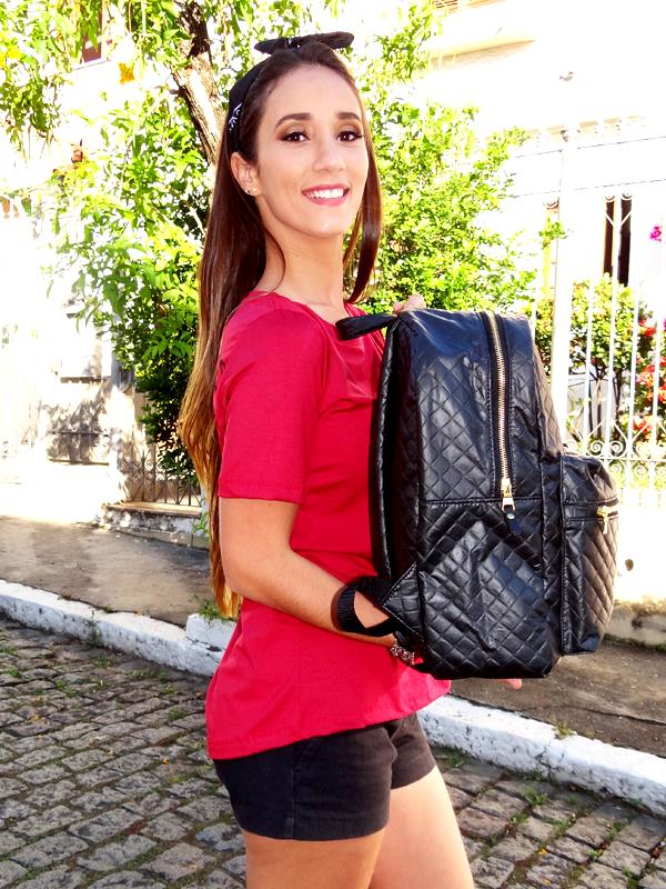 Mochila Carola -  Baby Preta