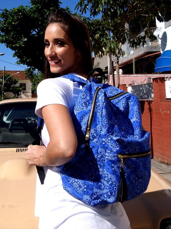 Mochila Carola - Bandana  Azul