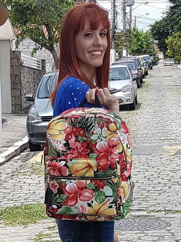 Mochila Carola - Floral