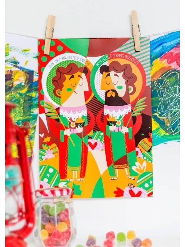 Poster Cosme & Damião - A4