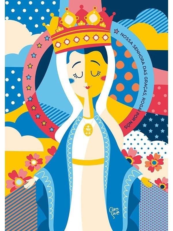 Poster Nossa Senhora das Graças - A4