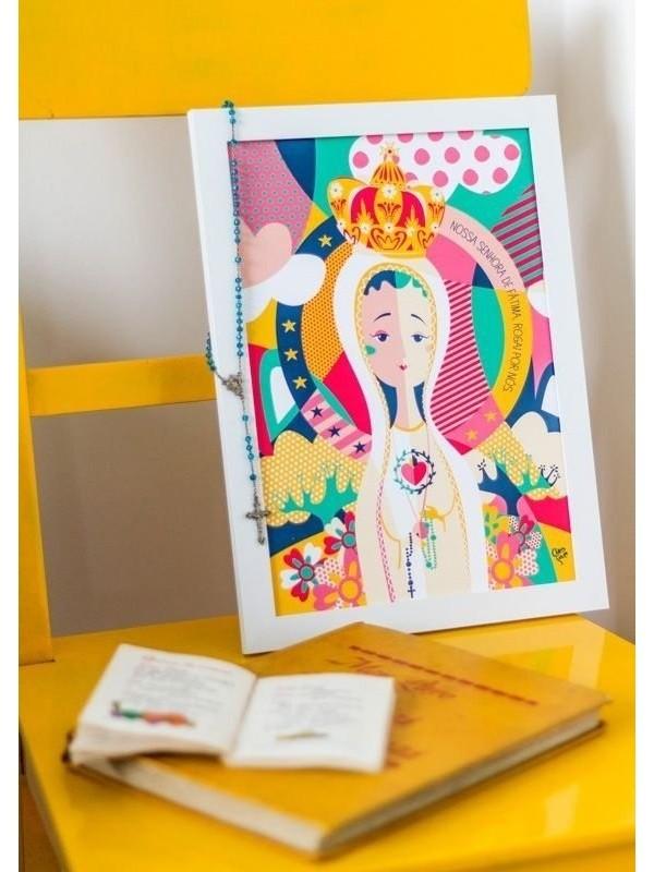 Poster Nossa Senhora de Fátima - A4