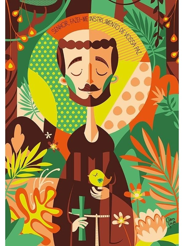 Poster São Francisco de Assis - A4