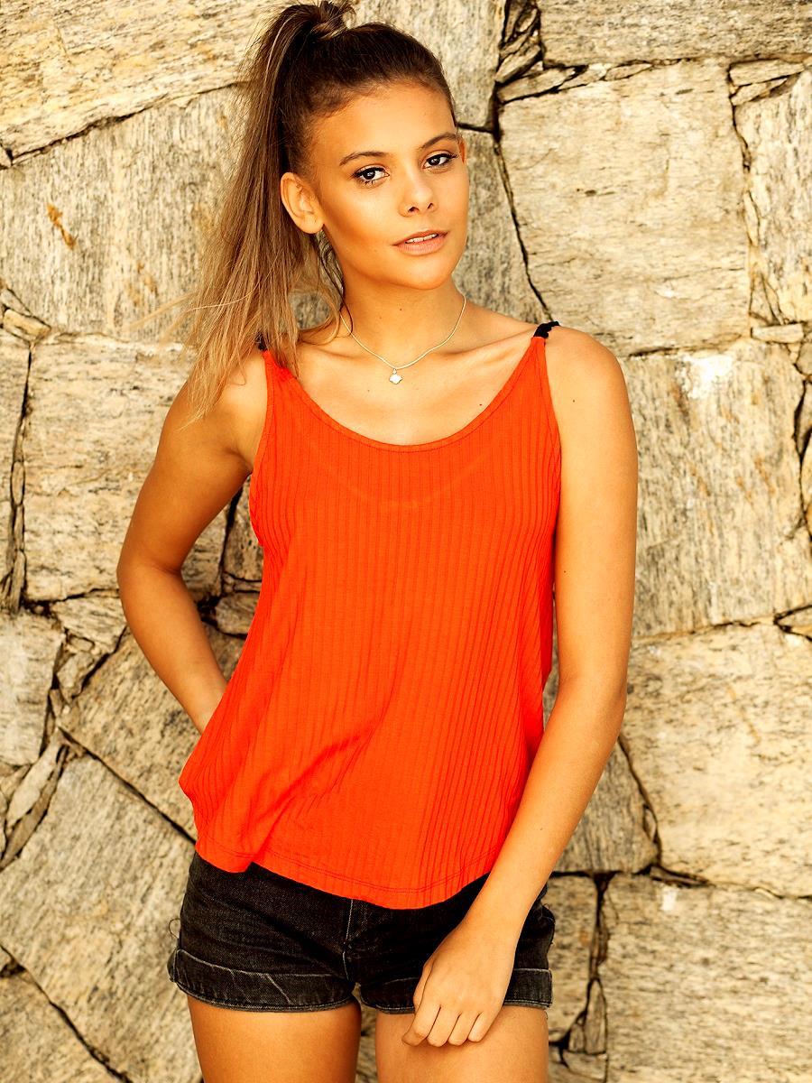 Camiseta Pompom - Coral