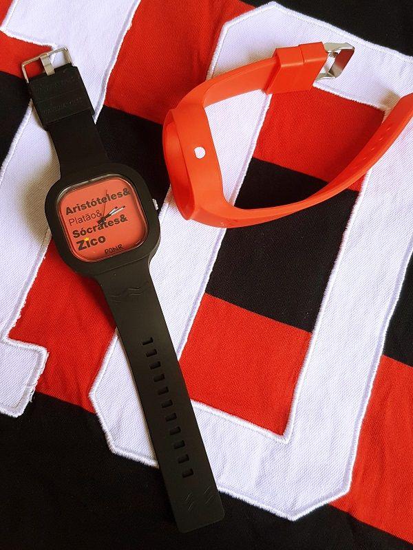 Relógio Gênios - Kit Vermelho e Preto