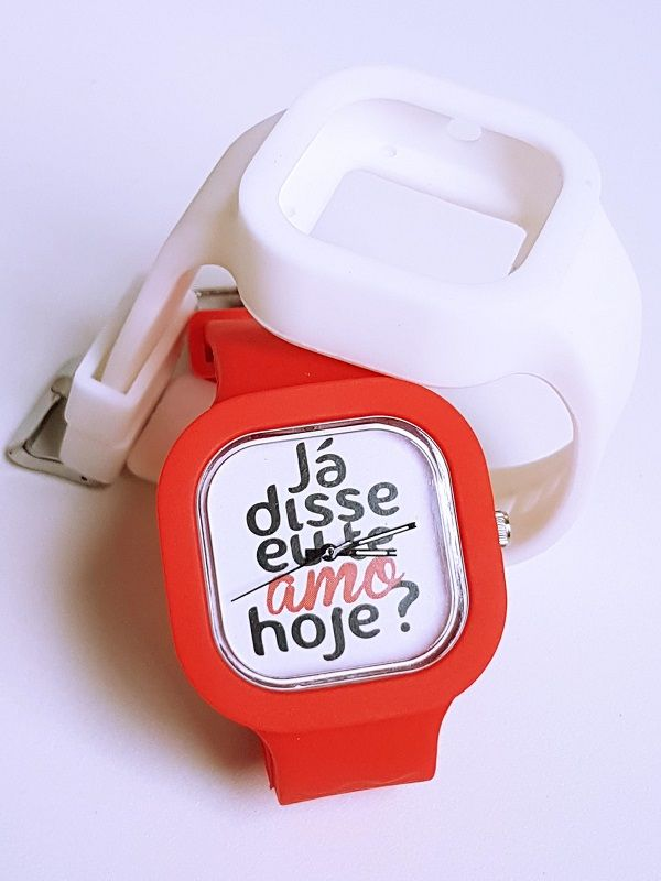Relógio Te Amo - Kit Vermelho e Branco